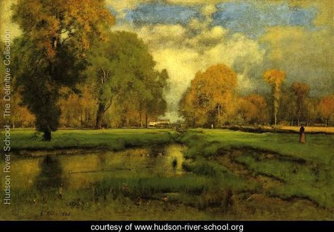 October - George Inness - www.hudson-river-school.org