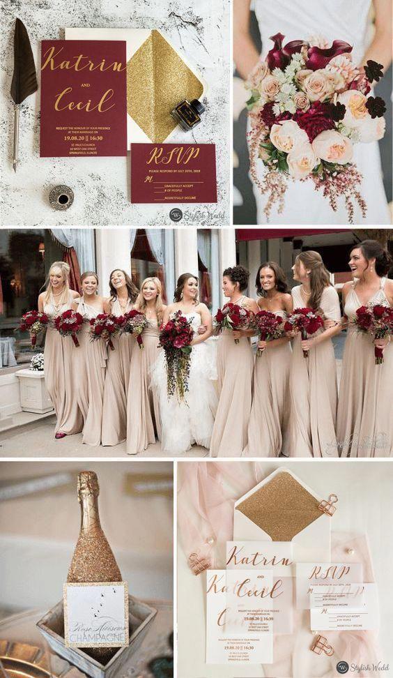 Modern Custom Rose Gold Gold Silver Foil Vellum Paper Wedding Invitations Wedding Weddingi Gold And Burgundy Wedding Gold Wedding Theme Winter Wedding Colors
