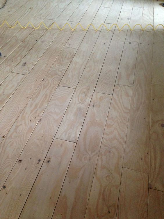 Diy Wide Plank Floors Made From Plywood Little Green