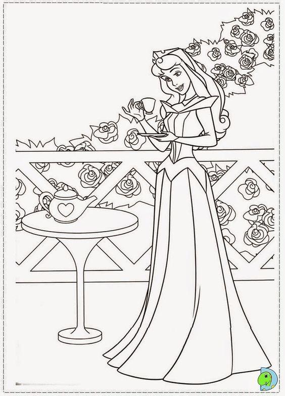 Dinokids - Desenhos para colorir: Desenhos de A Bela Adormecida, Princesa Aurora, para colorir