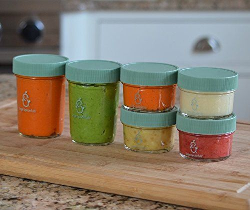 Amazon.com : Sage Spoonfuls Jars, Bulk Glass Storage : Baby