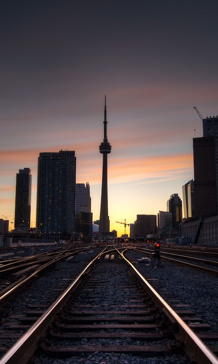 Beautiful shot of Toronto at sunset