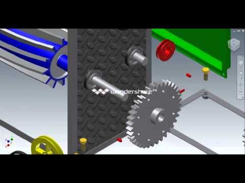Animasi Mesin Crusher Inventor Youtube Inventor Crusher Autodesk Inventor