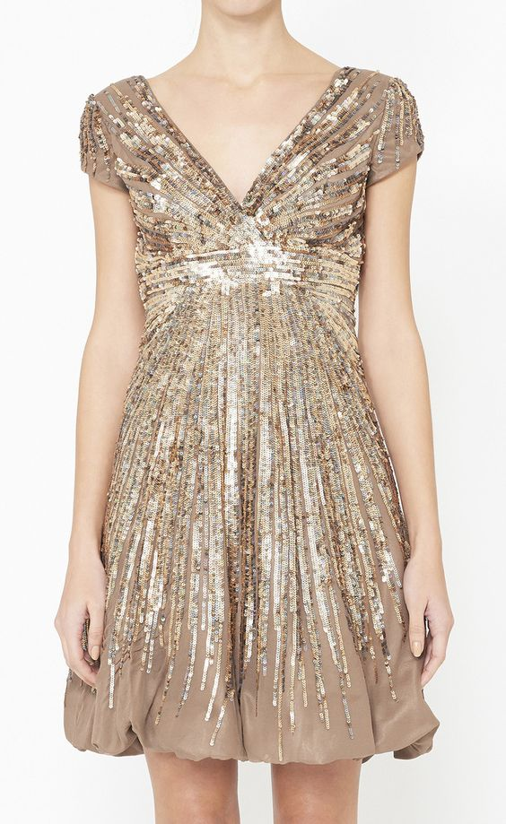 JOVANI -  Brown, Copper And Multicolor Dress