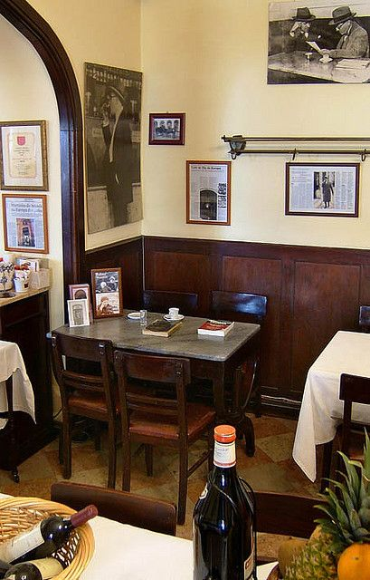 Lisboa, the favourite table of poet Fernando Pessoa at the Café Martinho da Arcada, Lisboa by ernst schade