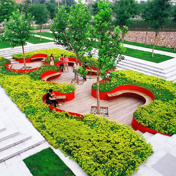 Turenscape terrasse de jardin parks landscape design for Architecture jardin