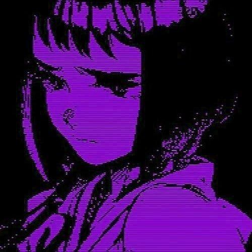 Cute anime wallpaper dark purple anime