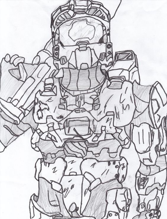 halo mega block coloring pages - photo#22