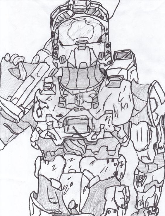 halo mega block coloring pages - photo#22