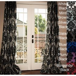 these curtains would be perfect for the color scheme we're doing in the living room
