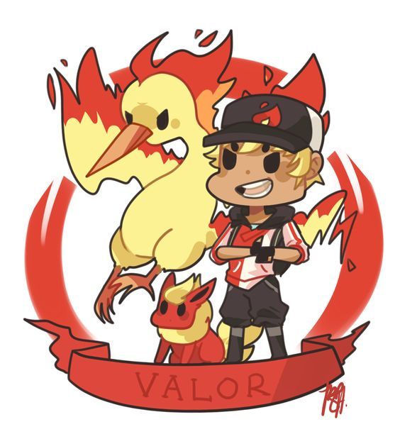 Pokemon Go | Team Valor by sho-ba.tumblr.com