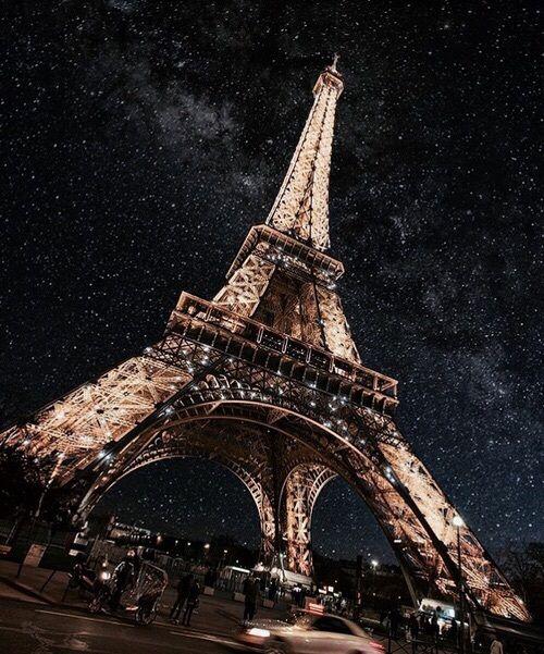 paris, night, and stars image