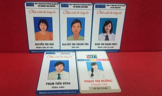 thẻ nhân viên bằng nhựa pvc