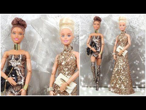 Barbie Gece Elbisesi Parti Kiyafetleri Yapimi No 1 Kendin Yap 5