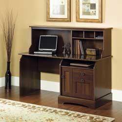 Graham Ridge Computer Desk With Sunset Granite Top Amp Hutch