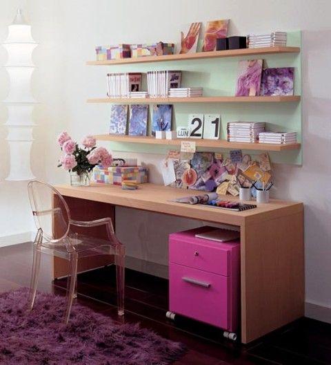 Teenage Study Table | Kid's study | Pinterest | Shelves, Bedrooms and Room