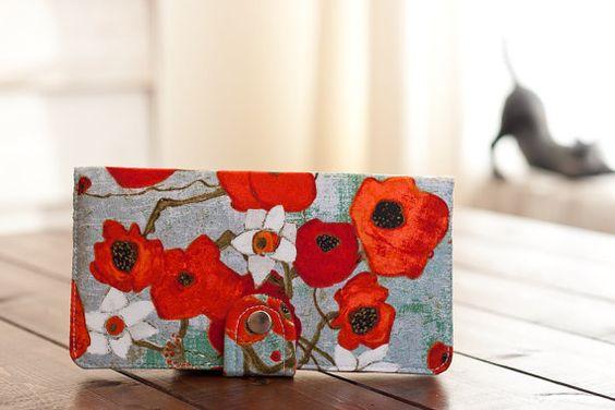 Bifold Wallet Clutch/Poppy