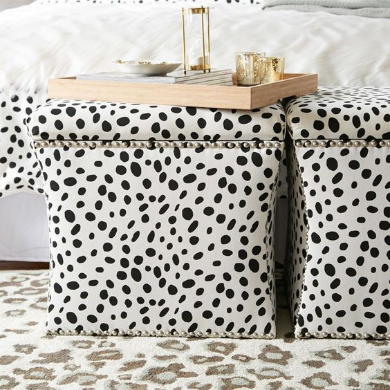 Togo Storage Ottoman | black and white dalmatian spots | Most-Liked Looks on Joss & Main