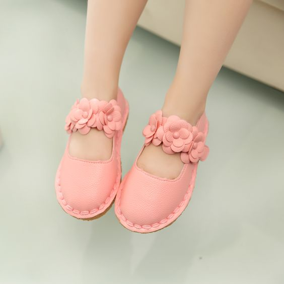 2016 spring autumn fashion Single shoes princess shoes boy Baby toddler shoes girls flower kids soft bottom leather shoes A099 alishoppbrasil