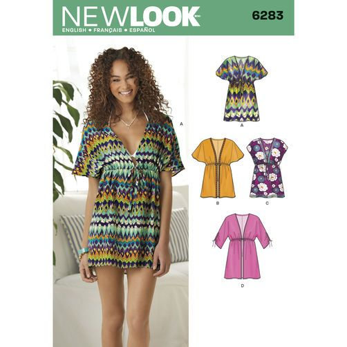 New Look Pattern 6283 Misses' Mini Dress or Tunic: