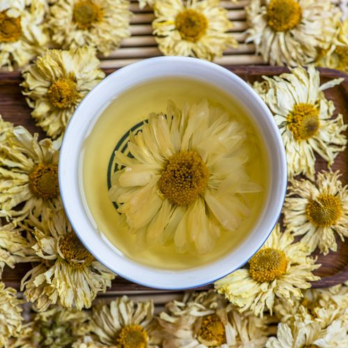 Office Ladies And Gentlemen Drink More Chrysanthemum Flower Tea To Prevent Eye Fatigue