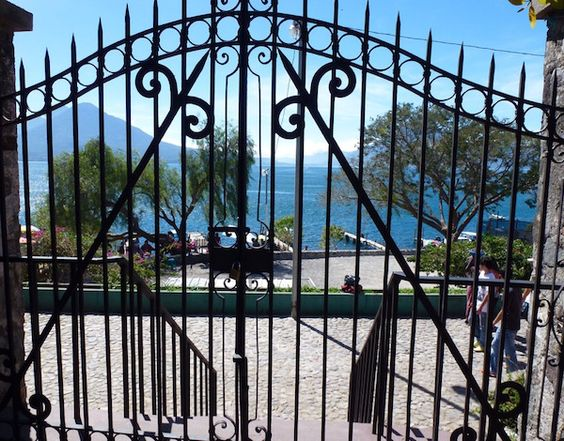Gates around the world: Doorways to Travel - This gate was discovered in Panajachel, Guatemala via More Time to Travel