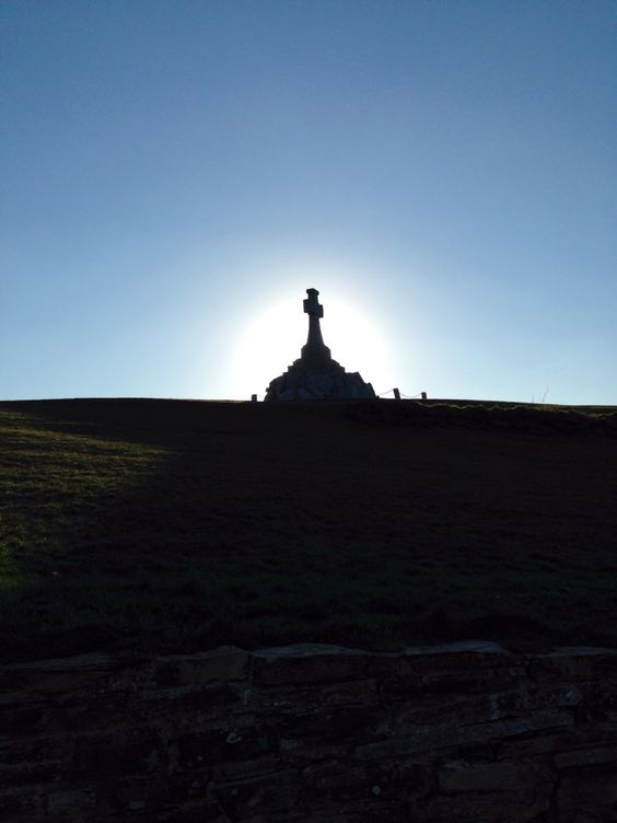#newquay #cross #sun #blue #sky #shadow
