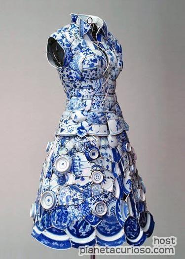 Vestido de porcelana.