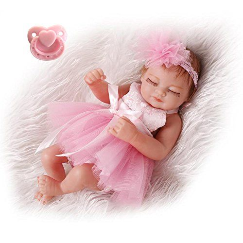 "Pinky Girl Reborn 10/"" 26cm Lifelike Baby Doll Vinyl Silicone Full Body Dolls"