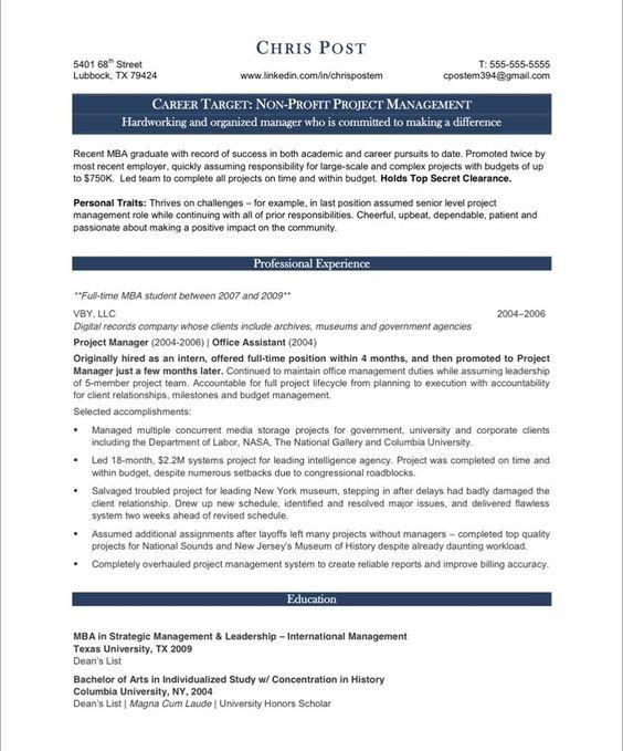 non profit job resume sample 18 best non profit resume samples