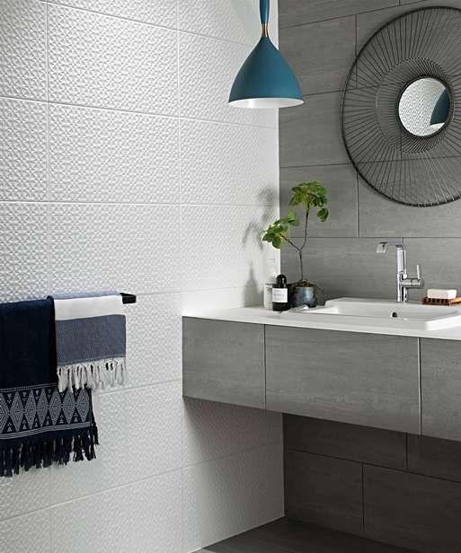 Simply Geometric Decor Tile In 2020 Bathroom Feature Wall Tile Bathroom Wall Tile Bathroom Feature Wall