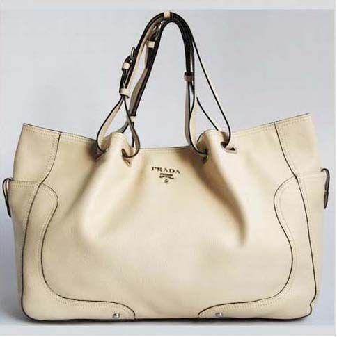ysl handbag replica - Prada Cream Calfskin Leather Big Handbag 7947 | Style Me ...