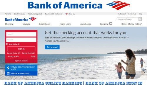 Bank Of America Online Banking Bank Of America Sign In Bingdroid Com Bank Of America Online Banking America Sign