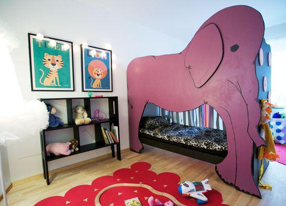 A super fun elephant bunk bed