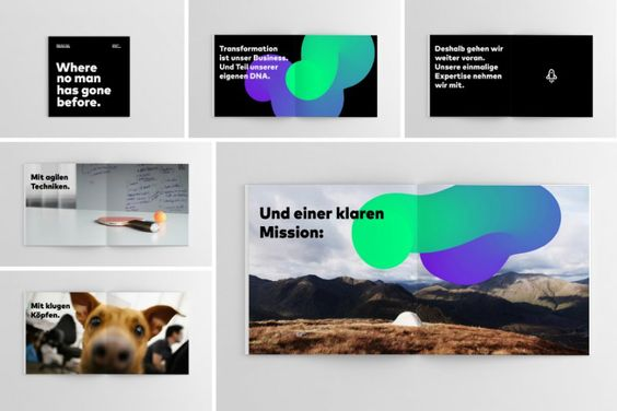 Digitales Markendesign für Boldly Go Industries. | Corporate Identity Portal
