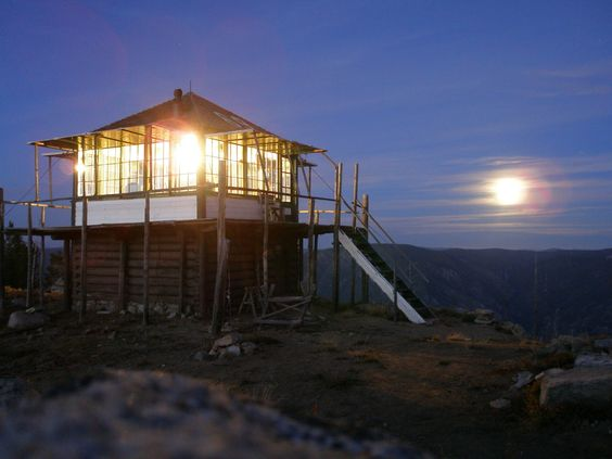 Fire Lookout in Salmon National Forrest, Idaho.