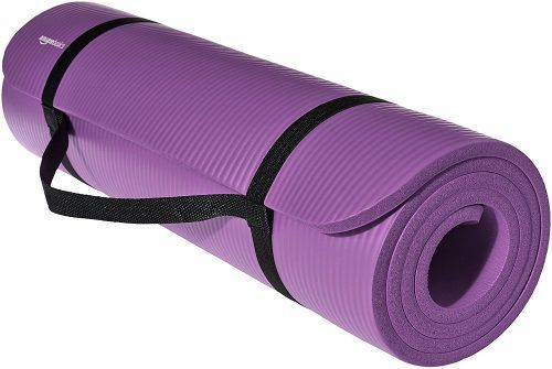 Amazonbasics 1 2 Inch Extra Thick Exercise Mat With Carrying Strap Purple Thick Yoga Mats Thick Exercise Mat Thick Yoga Mats Mat Exercises