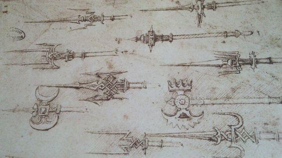 Armas desenho de Leonardo da Vinci