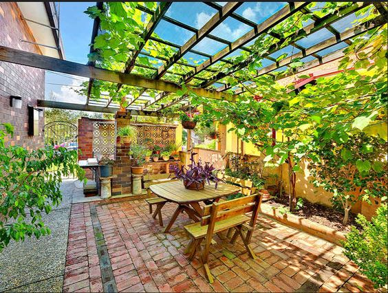 desain taman belakang rumah type 36 desain pinterest
