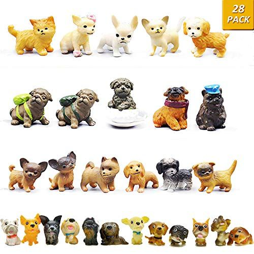 Guasslee Mini Plastic Puppy Dog Figurines For Kids 28 P Https