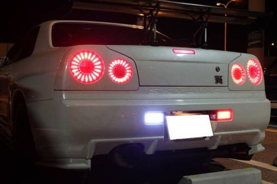 "値下げ!リア4点LED加工!! R34 GT-R LEDテール バージョン③ /【Buyee】 ""Buyee"" Japan Shopping Service 