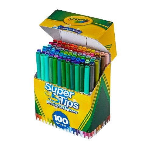 Crayola Super Tips Washable Markers 100ct Washable Markers