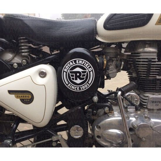Royal Enfield Since 1901 Logo Sticker In Dual Color Royal