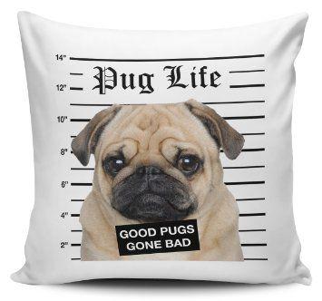 Pug Life Cojín con diseño de carlino Precio:EUR 6,15