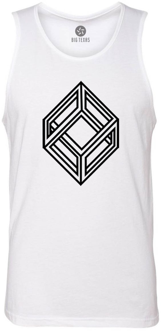 Impossible Cube (Black) Tank-Top T-Shirt