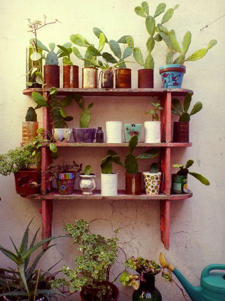 Resultado de imagem para prateleiras jardinagem