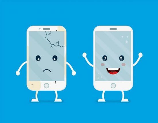How To Remove Scratches From Your Phone Screen Wawcase Broken Phone Iphone Shop Cartoon Illustration