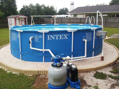 decks for intex pools Around an Intex Pool Above Ground