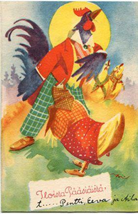 Finnish Easter card.  Eeli Jaatinen.