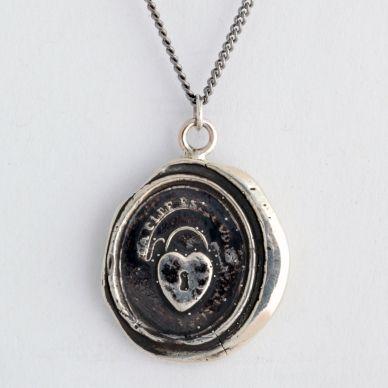 Heart Lock Wax Seal Necklace